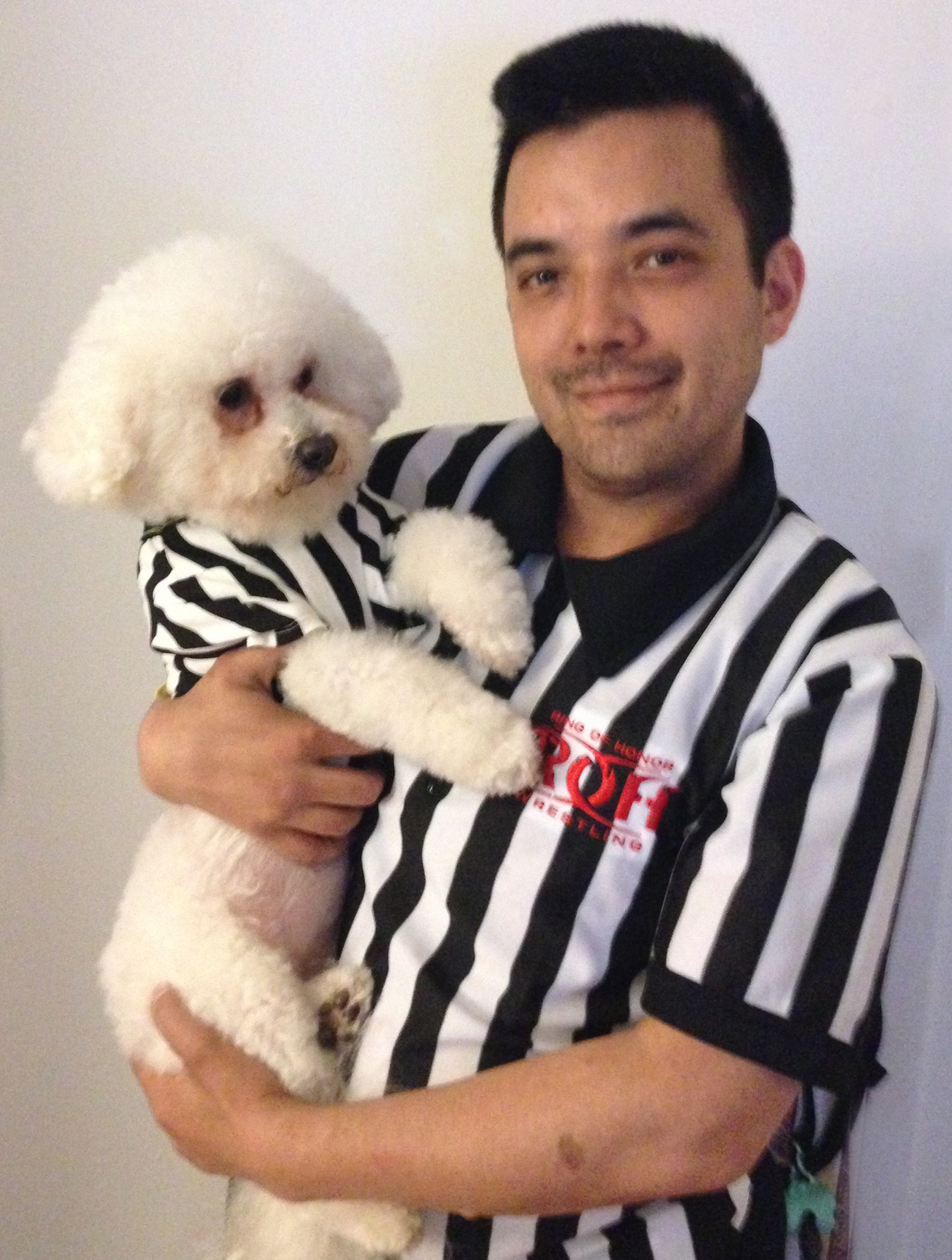 Dan Professional Wrestling Referee Tanaka and Rufferee Diamond Baby